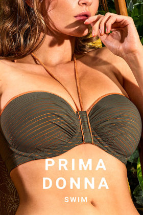 PrimaDonna Swim - Marquesas Bandeau bikini beha met afneembare bandjes E-G cup